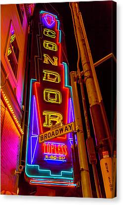 Condor Canvas Print - Condor Neon On Broadway by Garry Gay