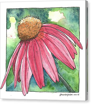 Abstracted Coneflowers Canvas Print - Cone Flower by Laura McLendon