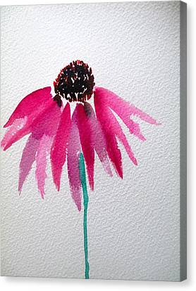 Abstracted Coneflowers Canvas Print - Coneflower by Sacha Grossel