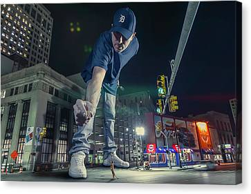 Canvas Print featuring the photograph Coney Anyone? by Nicholas Grunas
