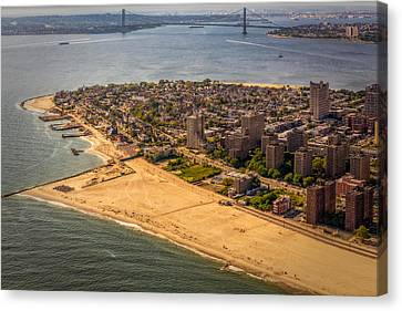 Transportation Canvas Print - Coney Island Beach by Susan Candelario