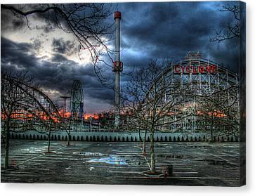 Parking Canvas Print - Coney Island by Bryan Hochman