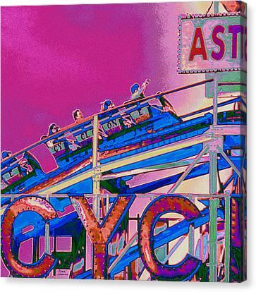 Coney Island Cyclone I Canvas Print by Marilu Windvand