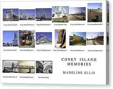 Coney Island Montage Canvas Print by Madeline Ellis