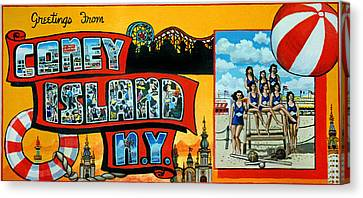 Coney Island New York Canvas Print by Bonnie Siracusa
