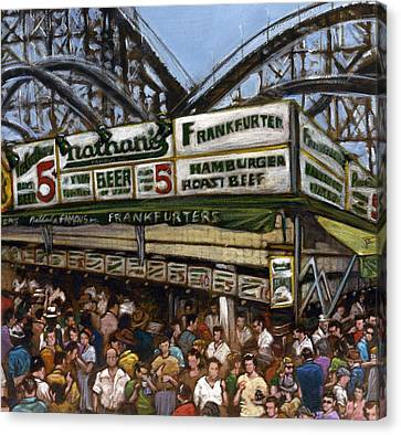 Coney Island Canvas Print by Ted Papoulas