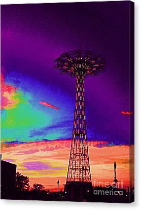 Coney Islands Parachute Jump Canvas Print