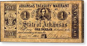 Confederate Banknote Canvas Print by Granger