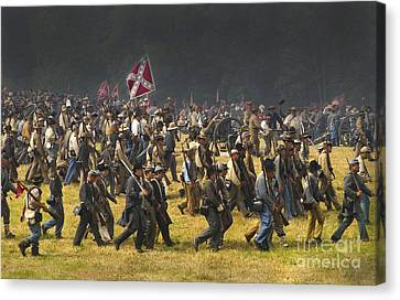 Paul Faust Canvas Print - Confederate Charge At Gettysburg by Paul W Faust -  Impressions of Light