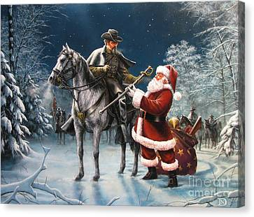 Confederate Christmas Canvas Print by Dan  Nance