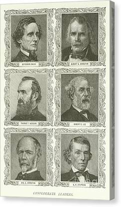 Confederate Leaders Canvas Print by American School