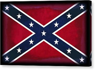 Confederate Rebel Battle Flag Canvas Print by Daniel Hagerman