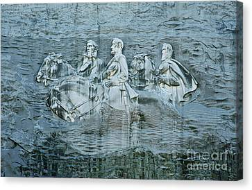 Confederate Relief At Stone Mountain Canvas Print by John Greim