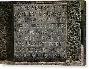 Confederate Solider Monument Canvas Print by Randy Bodkins