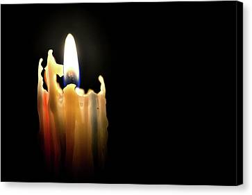 Confetti Candle Canvas Print