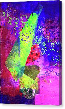 Canvas Print featuring the mixed media Confetti by Nancy Merkle