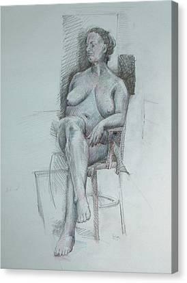 Confident Nude Canvas Print by Mark Johnson