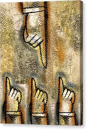 Conflict Canvas Print by Leon Zernitsky
