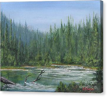 Confluence At First Light Canvas Print by Dana Carroll