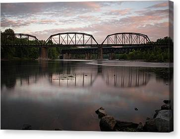 Conflux Of The Lehigh And The Delaware Canvas Print by Jennifer Ancker