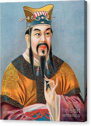 Confucius Canvas Print by Chinese School