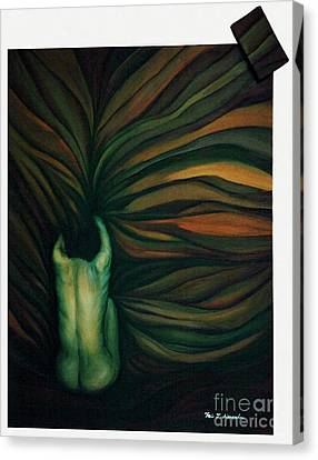 Canvas Print featuring the painting Confused by Fei A