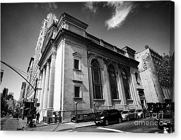 Congregation Shearith Israel Spanish And Portuguese Synagogue Central Park West Upper West Side New  Canvas Print