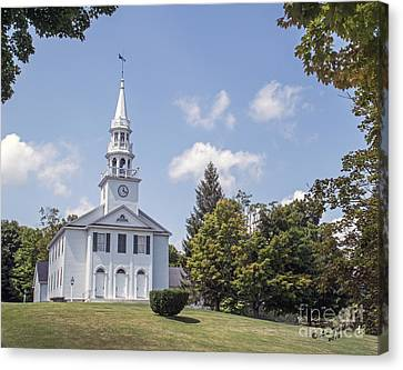 Congregational Church Canvas Print by Linda Troski