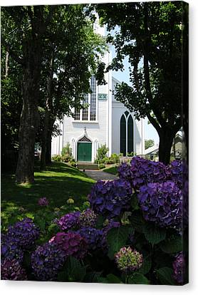 Congregational Church Nantucket Canvas Print