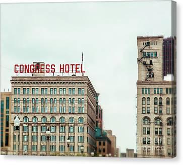 Congress Hotel Chicago Canvas Print