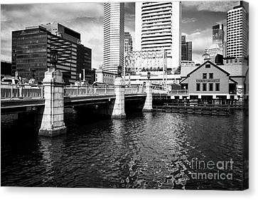 congress street bridge and Boston tea party museum site USA Canvas Print