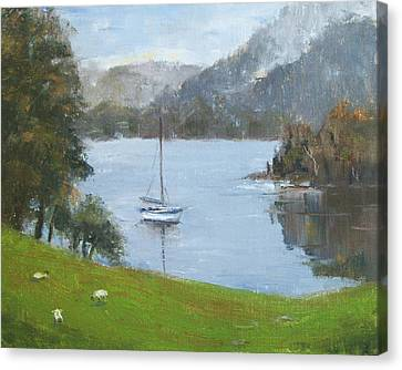 Coniston Water Canvas Print by Elaine Monnig
