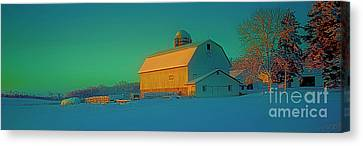 Conley Rd White Barn Canvas Print