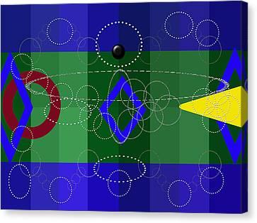 Digital Installation Art Canvas Print - Geometry by Tina M Wenger