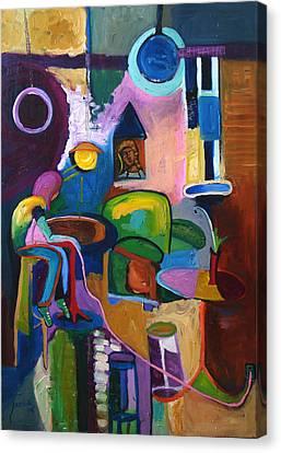 Connected Canvas Print by Kari Sagal Allgire