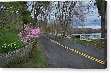 Connecticut Country Road Canvas Print by Bill Wakeley
