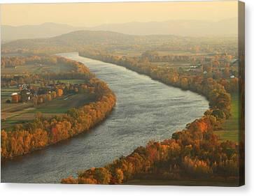 Connecticut River Mount Sugarloaf Canvas Print by John Burk