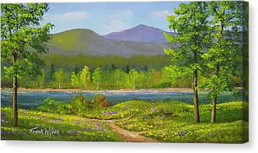 Connecticut River Spring Canvas Print by Frank Wilson