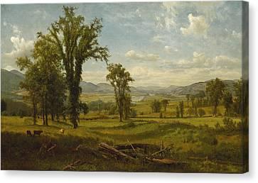 Connecticut River Valley, Claremont, New Hampshire Canvas Print