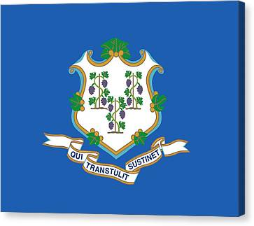 Connecticut State Flag Canvas Print