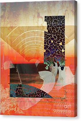 Connections In Space Canvas Print by Robert Ball