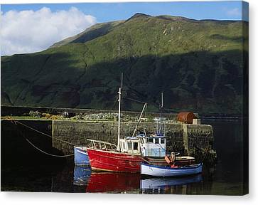 Connemara, Co Galway, Ireland Fishing Canvas Print by The Irish Image Collection