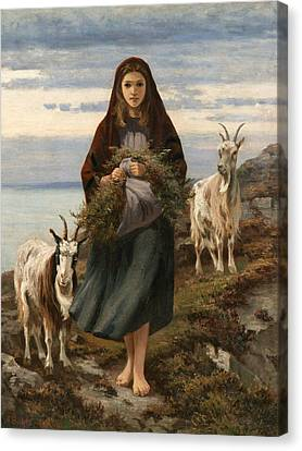 Connemara Girl Canvas Print