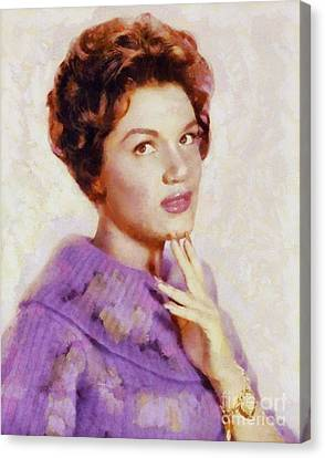 Connie Francis, Vintage Singer Canvas Print