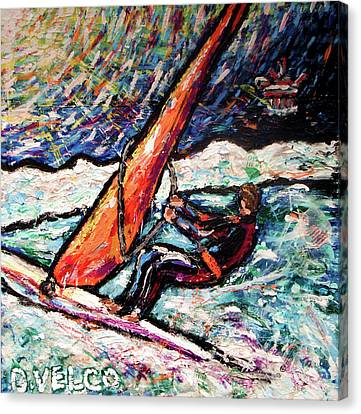 Conscience Surfer Canvas Print by Dennis Velco