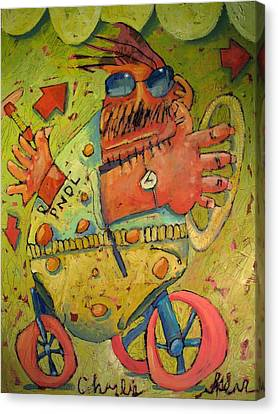 Conscientious Perambulator Canvas Print by Charlie Spear