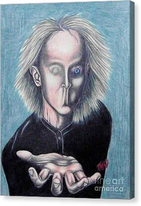 Canvas Print featuring the drawing Consciousness by Michael  TMAD Finney