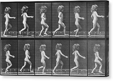 Consecutive Images Of A Little Nude Canvas Print by Everett