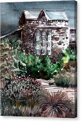 Conservatory Gardens In Scotland Canvas Print by Mindy Newman
