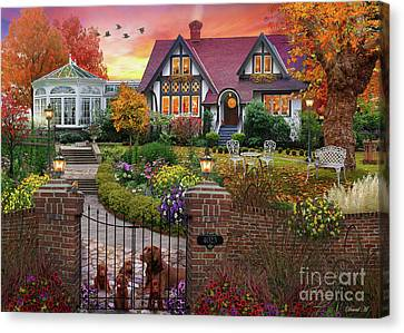 Conservatory House  Canvas Print by MGL Meiklejohn Graphics Licensing